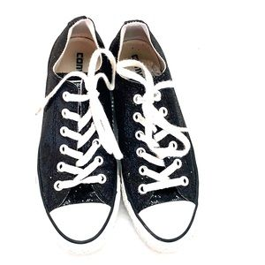 Women's size 8 Black Glitter Converse